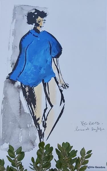 Nizza: le opere di Brigitte Gaudou esposte sui muri delle Puces (Foto)