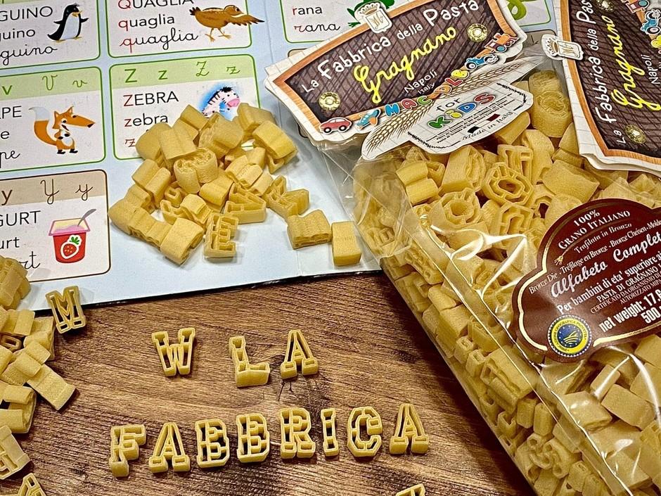 Da Gragnano arriva in tavola un nuovo formato di pasta con tutte le lettere dell'alfabeto.