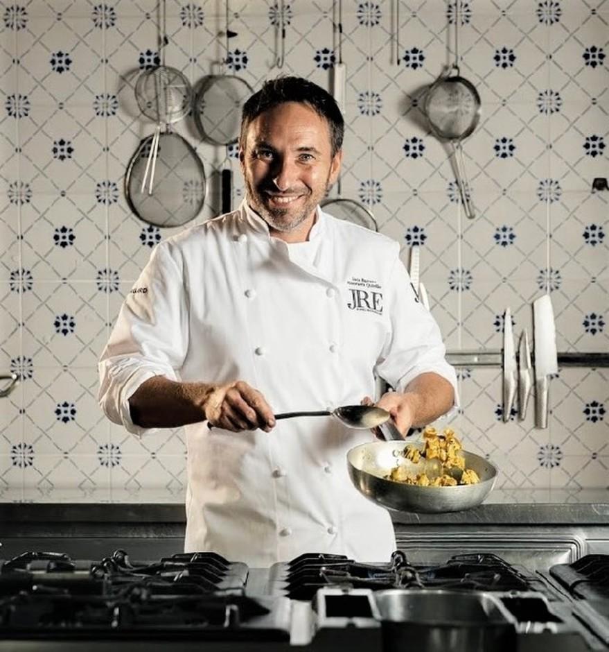 Lo chef Luca Bazzano del ristorante Quintilio di Altare (SV)