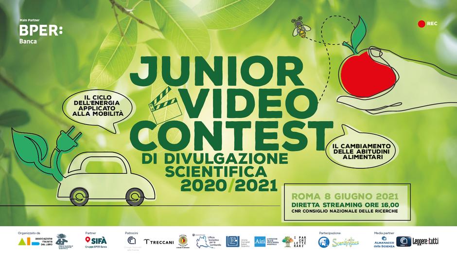 Martedì 8 giugno la finalissima del Junior Video Contest in streaming