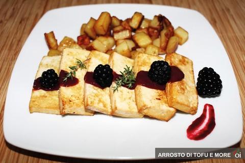 La ricetta: arrosto di tofu e more
