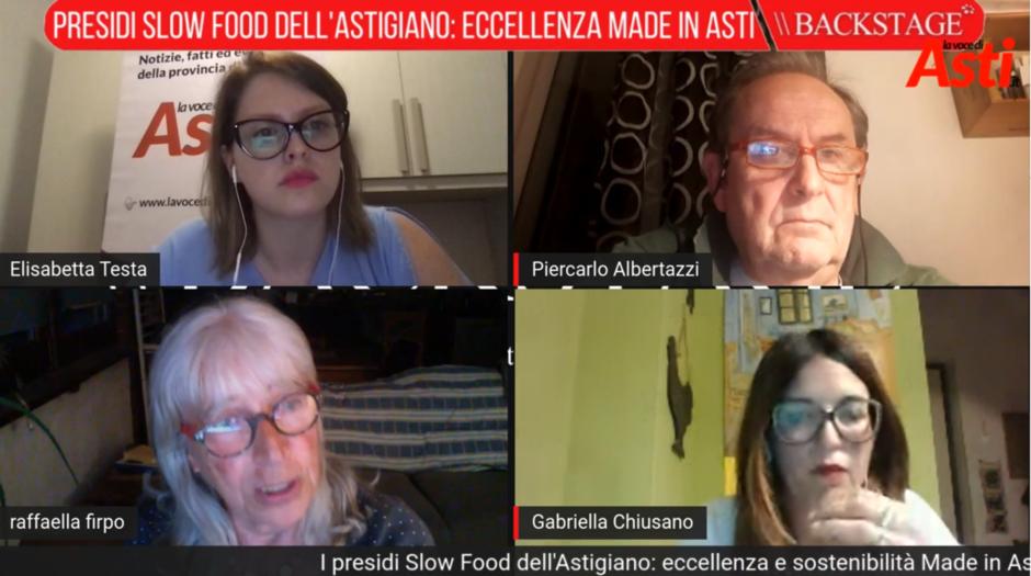 I presidi Slow Food dell'Astigiano protagonisti di una trasmissione video