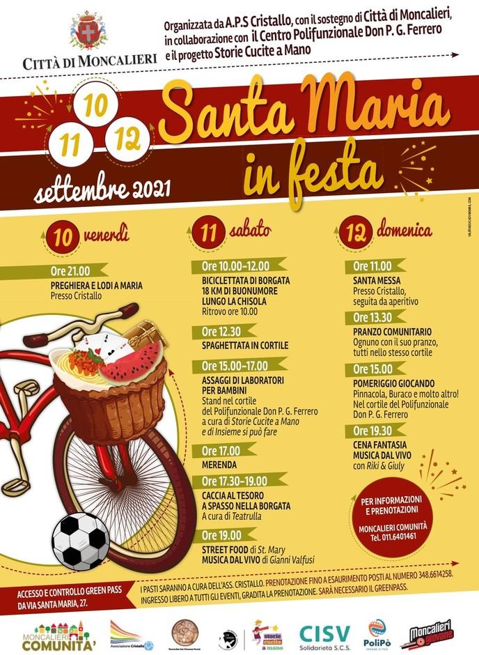 Moncalieri (TO) fervono i preparativi per la festa di Borgata Santa Maria